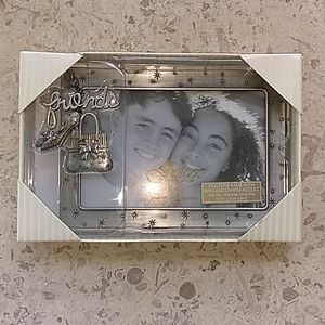 Fetco pewter frame,charm accent.